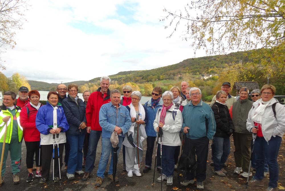 Groupe de marche le 05 novembre 2017 - Lac du Causse