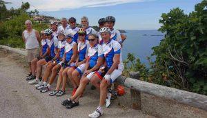 L'équipe au complet à l'arrivée à Cap Cerbère