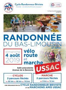 Cyclo Randonneur Briviste   Flyer Randonnée du Bas-Limousin 2019